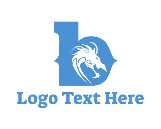 Serpent - Dragon & Letter B logo design