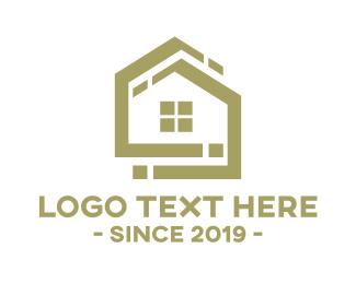 Home Builder - Golden House logo design