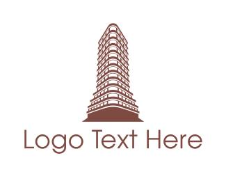 Ny - New York Flatiron logo design