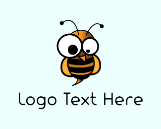 Honeybee - Crazy Wasp logo design