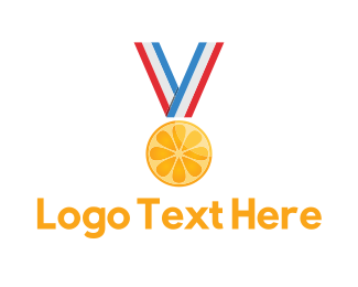 First - Citrus Medal logo design