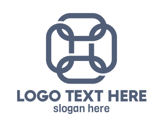 Symbol - Blue Square Chain logo design