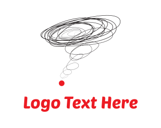 Hurricane - Brainstorming & Red Dot logo design