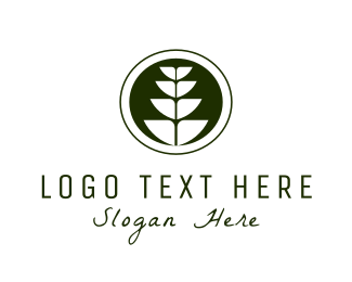 Stem - Wheat Plant logo design