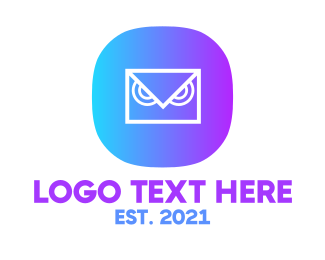 App - Messaging Owl App logo design