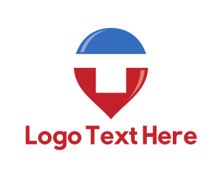Logotype - Letter T Pin logo design