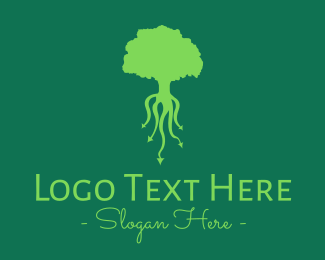 Root - Green Roots logo design