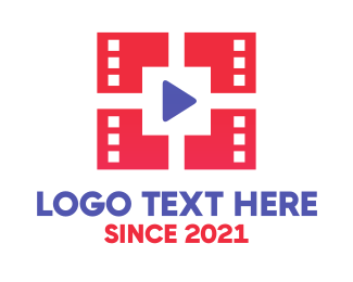 Video Player - Red Media  logo design