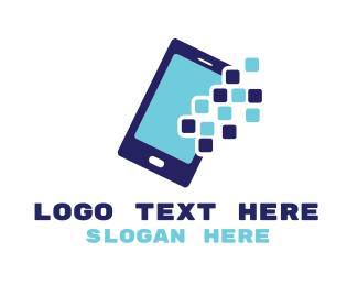 App - Pixel Mobile App logo design