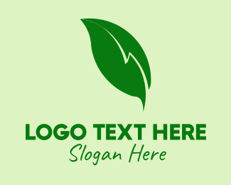 Electricity - Electric Leaf logo design