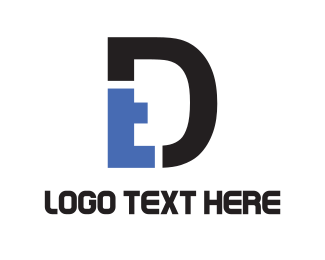 Letter D - D & T logo design