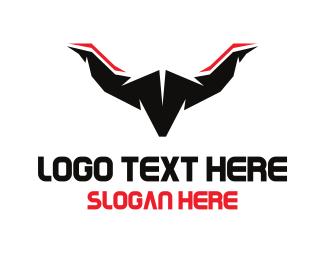Longhorn - Abstract Longhorn logo design