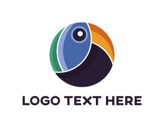 Cockatoo - Abstract Toucan logo design