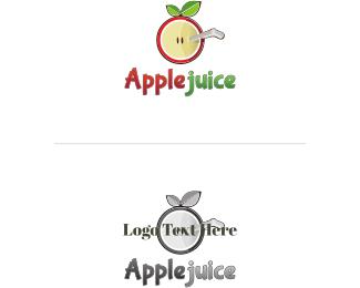 Straw - Apple Juice logo design