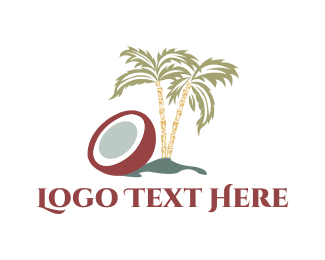 Island - Coconut Tree logo design