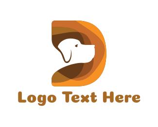 Letter D - Dog Letter D logo design