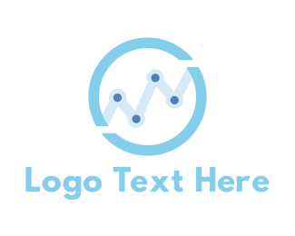 Baby Blue - Growth Chart Circle logo design