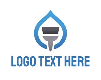 Sweeper - Blue Paint logo design