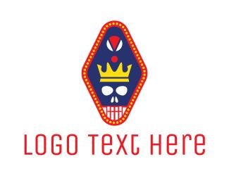 Latino - Crown Skull Pendant  logo design