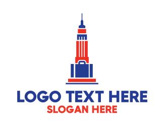 Nyc - Empire State Bag  logo design