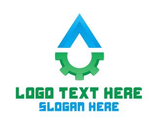 Factory - Drop & Gear logo design