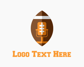Football - Football Mic logo design