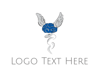 Caduceus - Brain Clinic logo design