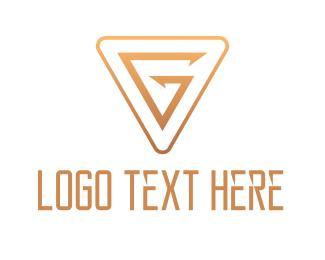 Badge - Gold Triangle G logo design