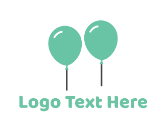 Duo - Mint Balloons logo design