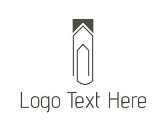 Attach - House Clip logo design