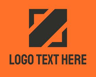 Startup - Square Black Slash  logo design