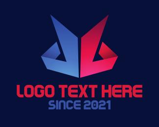 Folded - Paper Peaks logo design
