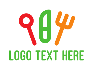 Spoon - Colorful Cutlery logo design