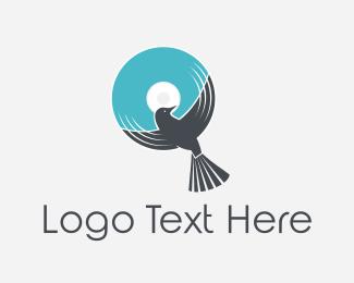 Disc - Bird Disc logo design