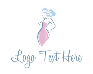 Dress - Woman Silhouette logo design
