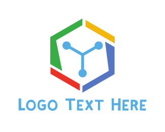 Computer Hardware - Colorful Hexa Tech logo design