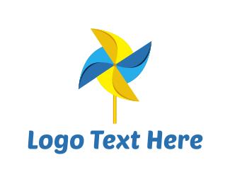 Propeller - Pinwheel Toy logo design