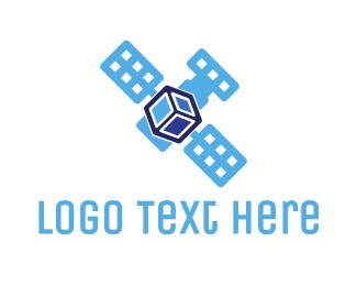 Glonass - Satellite Cube logo design