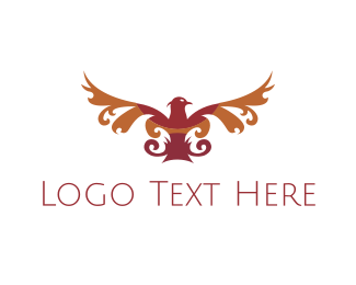 Elegant - Red Elegant Eagle  logo design