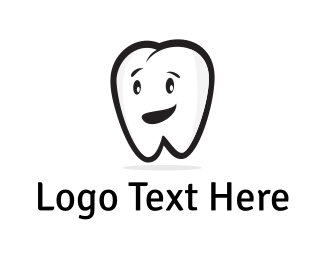Dental - Tooth Character logo design
