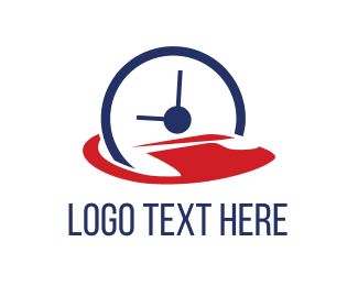 Watch - Abstract Clock logo design