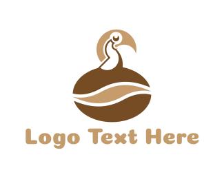 Toucan - Coffee Bird logo design