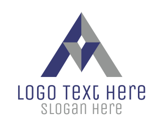 Jewel - Triangle Letter A logo design