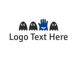 Ghost - Hand & Ghosts logo design