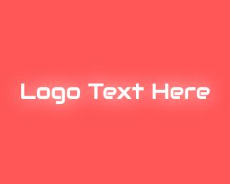 Glow - Neon Glow Text logo design