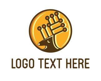 Moose - Tech Deer logo design