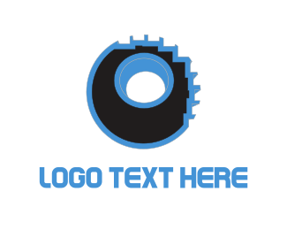 Pixelated - Pixelated Wheel logo design