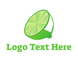 Juice Bar - Green Lime logo design
