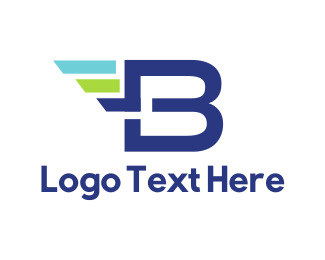 Speed - Fast Letter B logo design