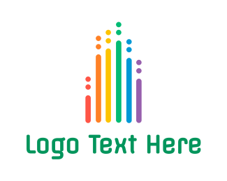 Lgbtiq - Rainbow Chart  logo design